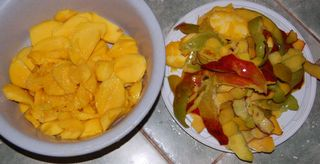 nakrájené mango bez pecky